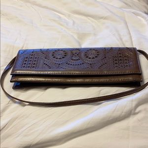Brown clutch from Aldo